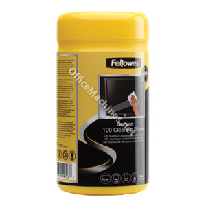 Fellowes 99703 Screen Cleaning Wipes