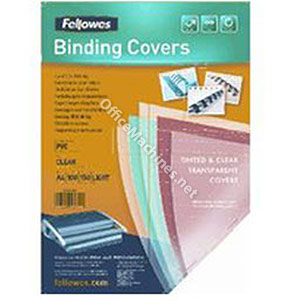 Fellowes Transparent Coloured Covers - Medium Weight PVC Coloured Covers A4
