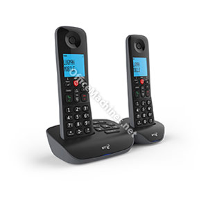 BT Essential Twin Dect Call Blocker Telephone with Answer Machine