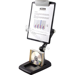 Fellowes Weighted Base Multipositional Copyholder Landscape and Portrait 3 Joints Graphite