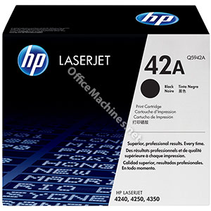 Hewlett Packard No. 42A Laser Toner Cartridge Page Life 10000pp Black
