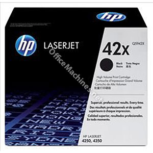 Hewlett Packard No. 42X Laser Toner Cartridge Page Life 20000pp Black