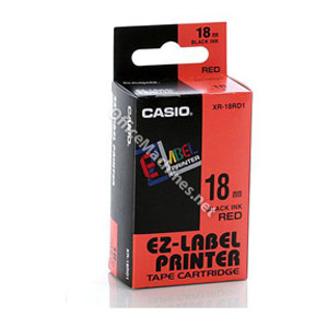 Casio IR-18RD Black on Red Tape 18mm tape