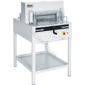 IDEAL 4850 Powerful Guillotine with Electro-Mechanical Blade Drive, Automatic Clamp and Easy-Cut