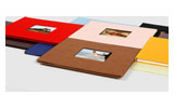 Powis Small Hardcovers - A4 Landscape with Window Binds up to 58 sheets
