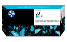 Hewlett Packard [HP] No. 80 Inkjet Printhead and Cleaner Cyan