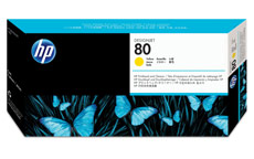 Hewlett Packard [HP] No. 80 Inkjet Printhead and Cleaner Yellow