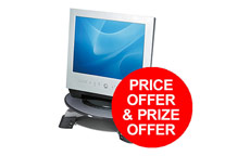Fellowes Monitor Riser for TFT LCD 17in Grey Charcoal