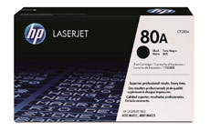Hewlett Packard [HP] No. 80A Laser Toner Cartridge Page Life 2700pp Black