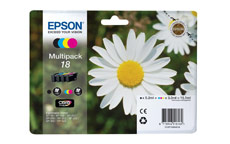 Epson 18 Inkjet Cartidges Capacity 15.1ml Total Black/Cyan/Magenta/Yellow