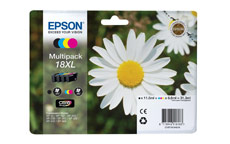 Epson 18XL Inkjet Cartridges High Capacity 31.3ml Black/Cyan/Magenta/Yellow