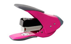 Rexel Easy Touch Stapler Quarter Strip Capacity 20 Sheets Pink