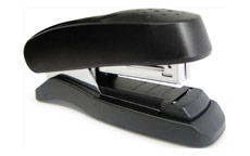 Rapesco Flat Clinch Stapler Half Strip 26/6 Black