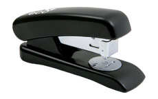Rapesco Eco Stapler Recycled ABS Casing Half Strip No.s 24/6 26/6 Black