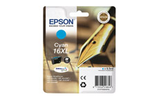 Epson 16XL Inkjet Cartridge Pen & Crossword Page Life 450pp Cyan