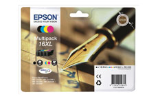 Epson 16XL Inkjet Cartridge Multipack Pen & Crossword Black/Cyan/Magenta/Yellow