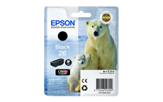 Epson T2601 26 Inkjet Cartridge Polar Bear Capacity 6.2ml Black