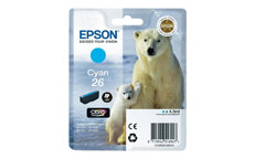 Epson T2612 26 Inkjet Cartridge Polar Bear Capacity 4.5ml Cyan