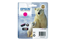 Epson T2613 26 Inkjet Cartridge Polar Bear Capacity 4.5ml Magenta