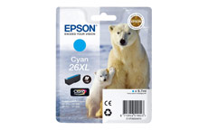 Epson 26XL Inkjet Cartridge Polar Bear Capacity 9.7ml Cyan