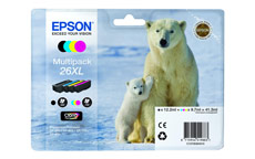 Epson 26XL Inkjet Cartridge Capacity 41.3ml Black/Cyan/Magenta/Yellow