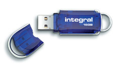 Integral Courier USB 3.0 Flash Drive Blue 16GB