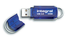 Integral Courier USB 3.0 Flash Drive Blue 32GB