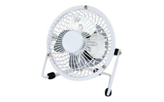 Desk Fan 4 Inch With Tilt USB 2.0 Interface White