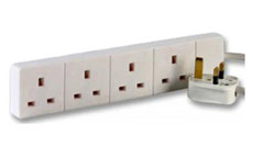 Extension Lead 5 Metres 13 Amp 4 Covered Sockets