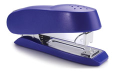 Rapesco Luna Stapler Half Strip Throat 72mm Blue