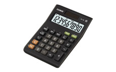 Casio Calculator Desktop Battery/Solar 10 Digit 3 Key Memory Tax Key