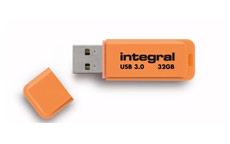 Integral Neon Flash Drive USB 3.0 Orange 32GB