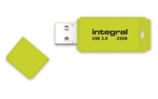 Integral Neon Flash Drive USB 3.0 Yellow 32GB