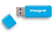 Integral Neon Flash Drive USB 3.0 Blue 64GB