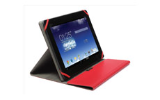 Kensington Comercio Fit Universal Multi Position Folio Case 10in Tablets Red