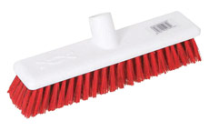 Scott Young Research Hygiene Broom Hard 12 inch Red