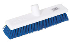 Scott Young Research Hygiene Broom Hard 12 inch Blue