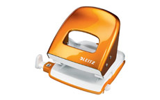 Leitz NeXXt WOW Hole Punch 3mm 30 Sheet Orange