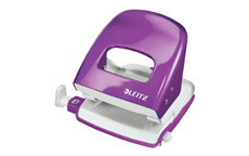 Leitz NeXXt WOW Hole Punch 3mm 30 Sheet Purple