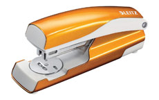 Leitz NeXXt WOW Stapler 3mm 30 Sheet Orange