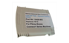 Totalpost Franking Inkjet Cartridge for Pitney Bowes ConnectPlus Series Cyan