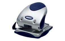 Rexel P240 Punch 2-Hole Heavy-duty with Nameplate Capacity 40x 80gsm Silver and Blue