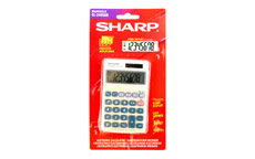 Sharp Calculator Handheld Battery Solar-power 8 Digit 3 Key Memory