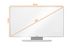 Nobo 1905302 40 Inch Widescreen Enamel Whiteboard