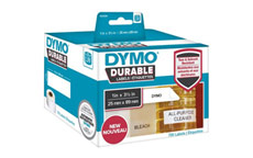 Dymo 1933081 LW Durable shelving label 25mm x 89mm Black on White