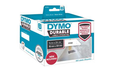 Dymo 1933085 LW Durable Barcode label 19mm x 64mm Black on White