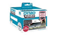 Dymo 1933087 LW Durable Large Shelving label 59mm x 190mm Black on White