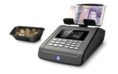 Safescan 6185 Money Counting Scale for Coins and Notes - Black