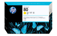 Hewlett Packard [HP] No. 80 Inkjet Cartridge 175ml Yellow