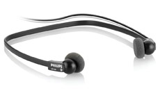 Philips LFH0334 Digital Headset Gold-plated 3m Cable Black